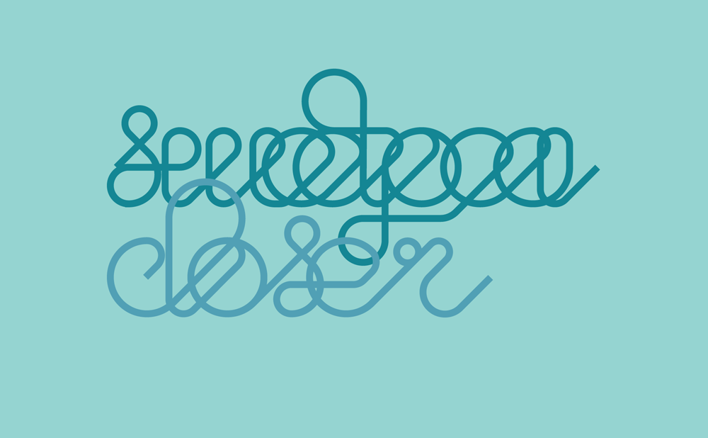 Sweetpea - Closer - custom typography