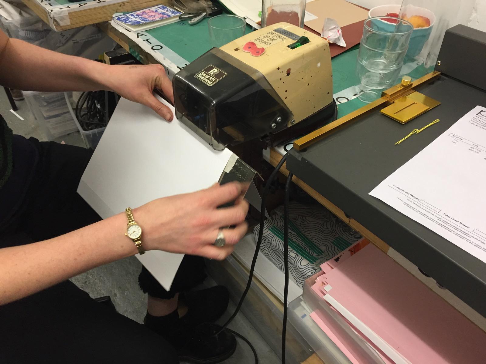 Gnarly book stapler
